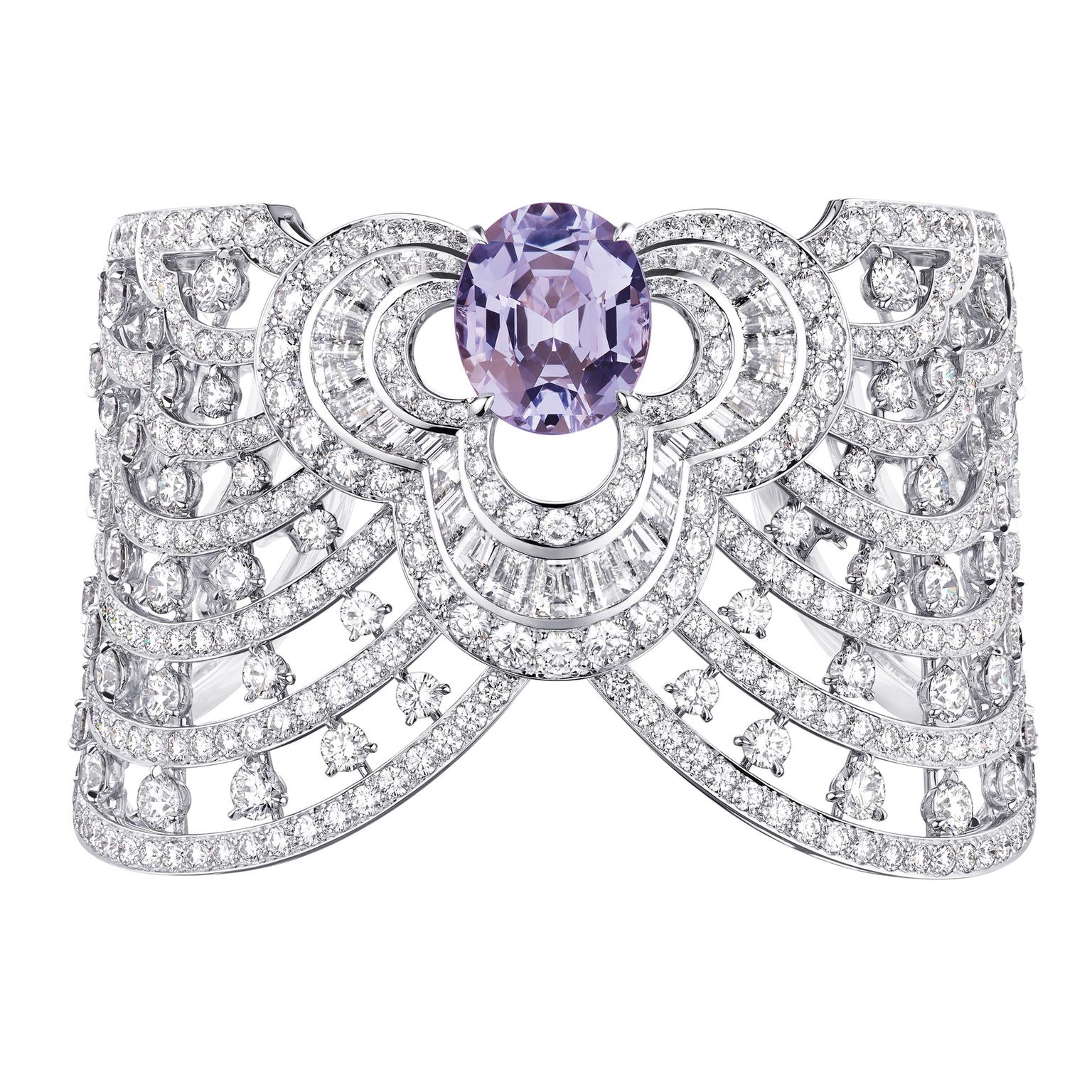 Louis Vuitton Blossom lavender spinel and diamond cuff