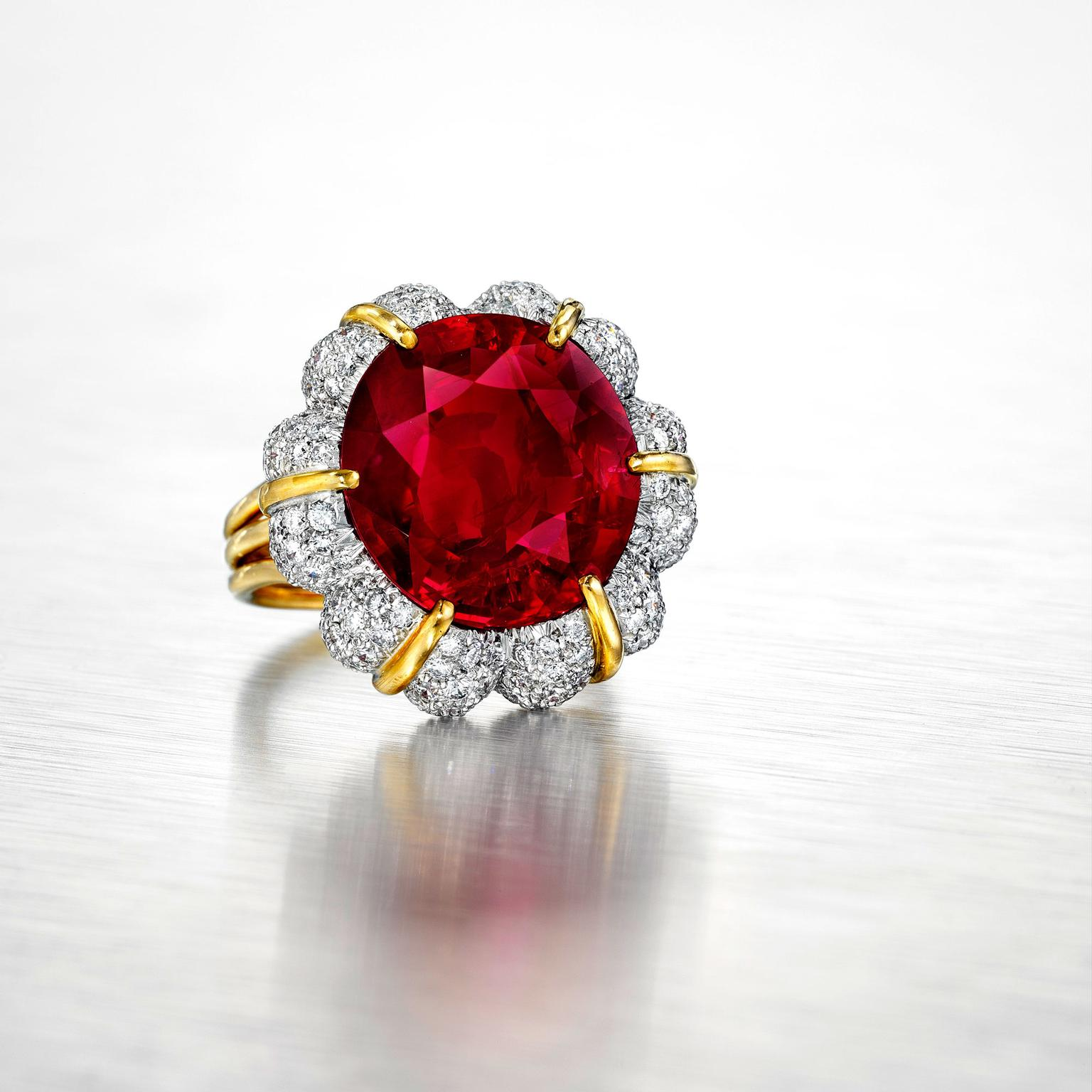 Verdura Jubilee Ruby ring