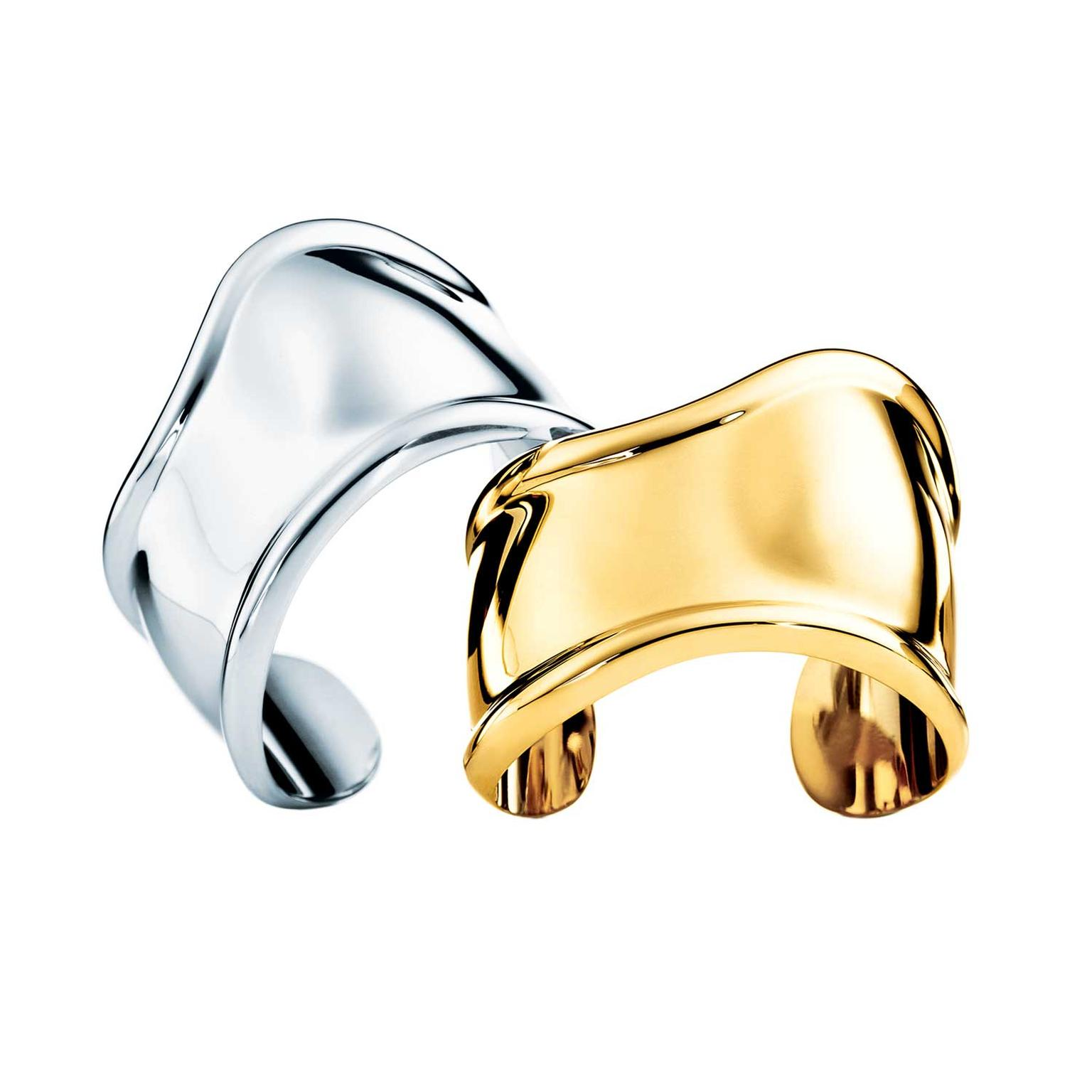 Elsa Peretti for Tiffany Bone cuffs in silver (£910) and yellow gold (£13,500).