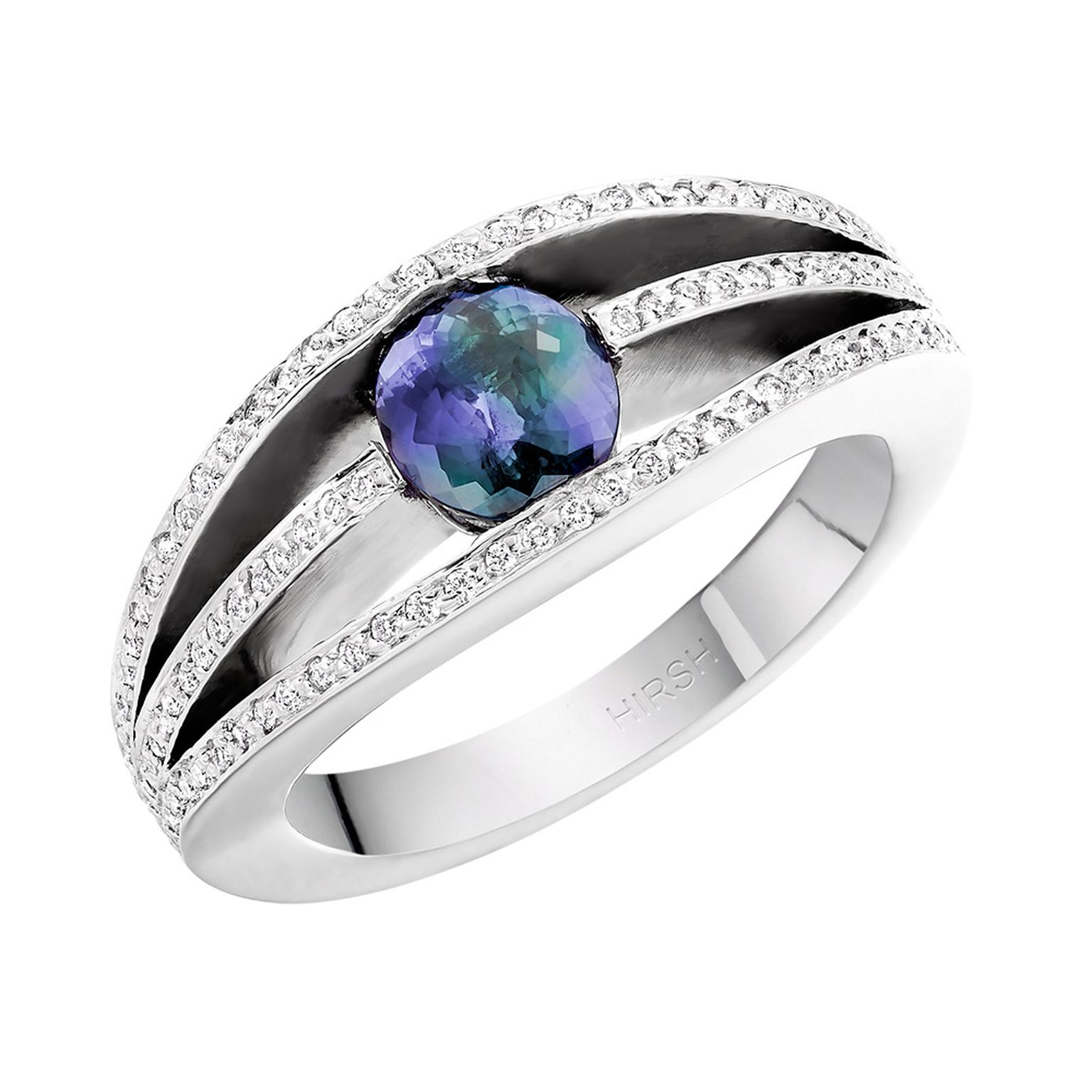 Hirsh London Brazilian alexandrite engagement ring