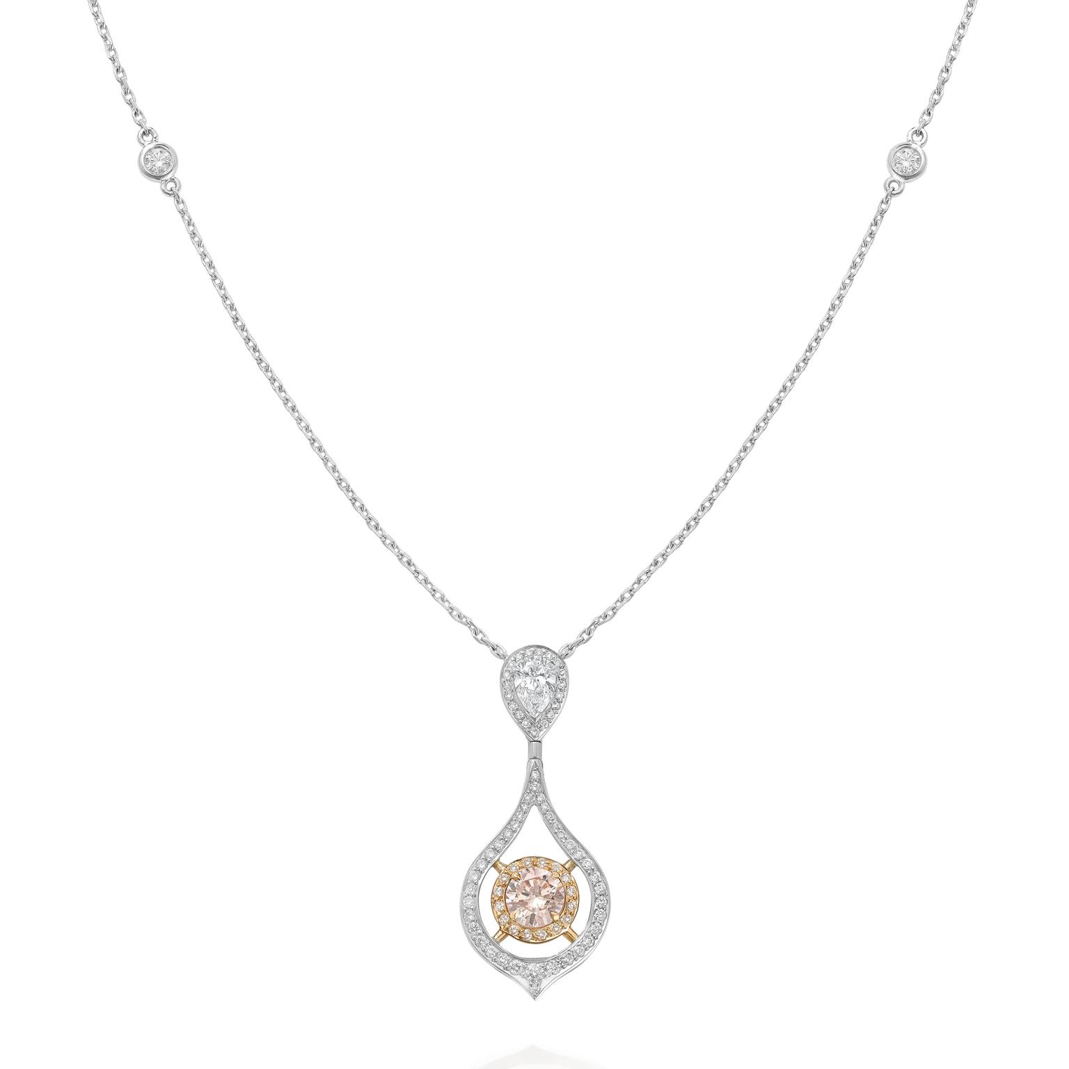 Boodles Finely Coloured Wisteria pink diamond necklace