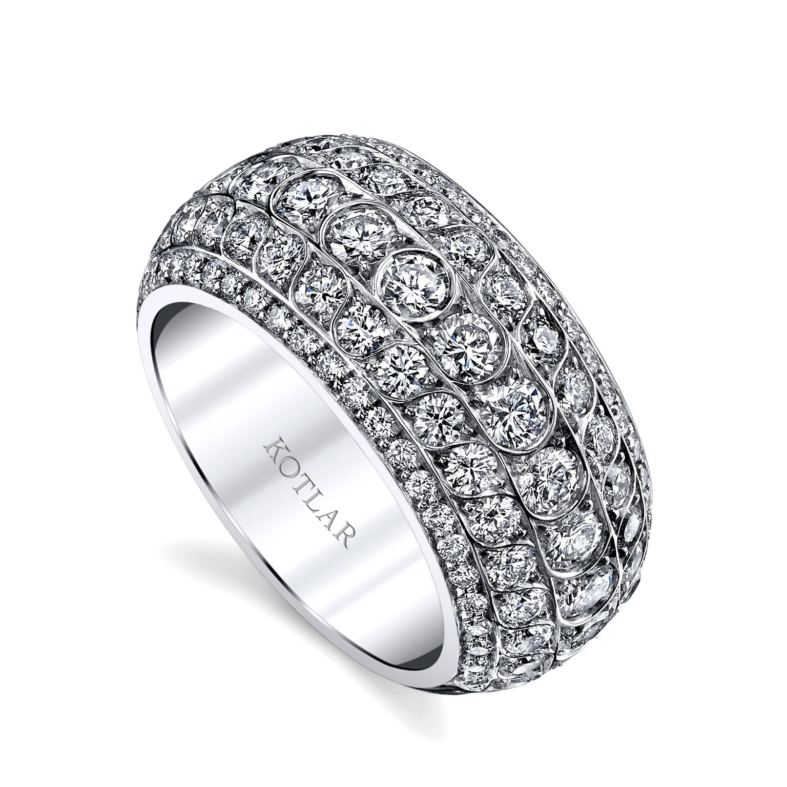 Harry Kotlar Scallop Artisan Pave band
