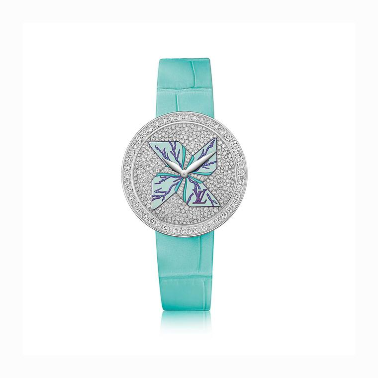 Louis Vuitton Cruise Ramage turquoise watch