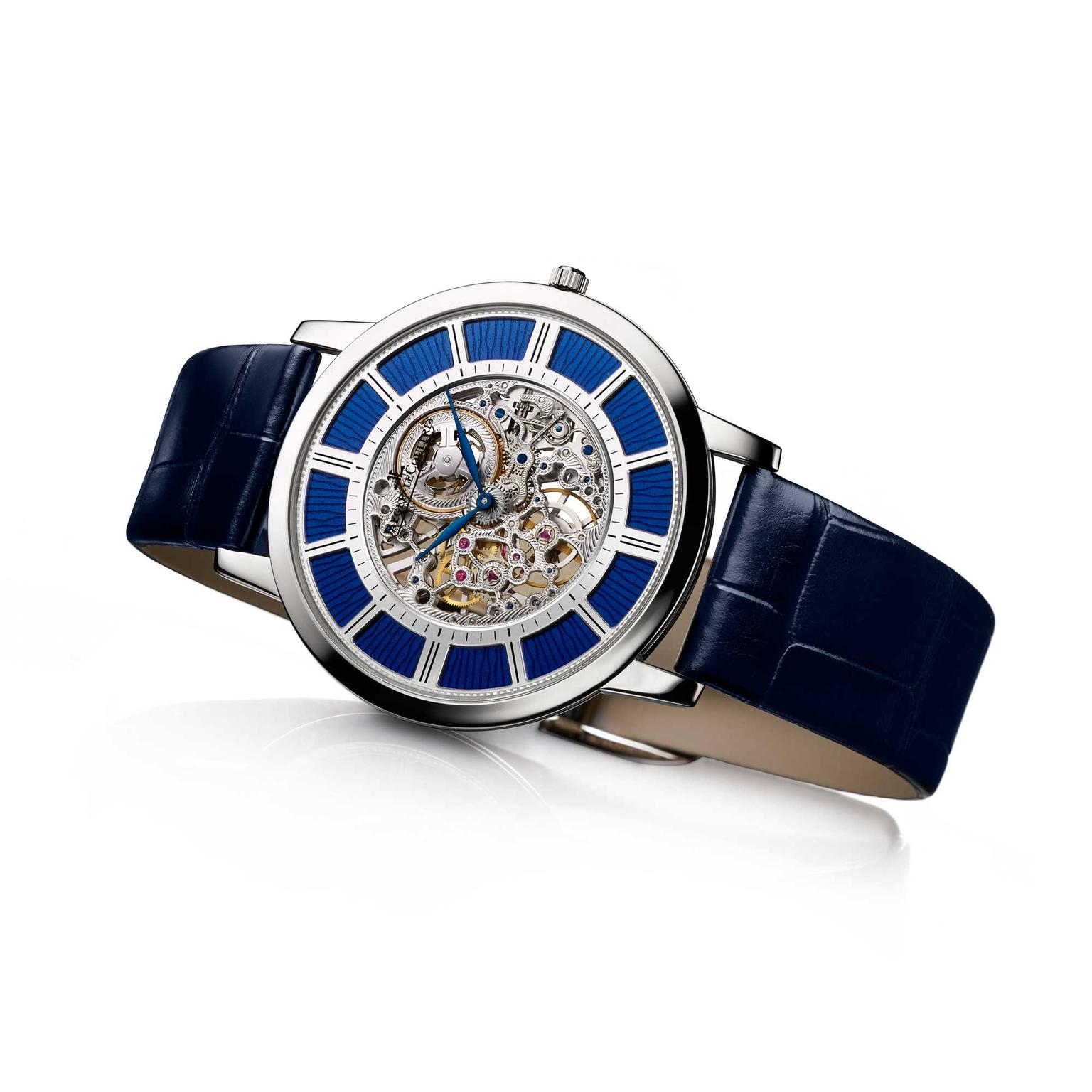 Jaeger-LeCoultre Master Ultra-Thin Squelette blue enamel watch