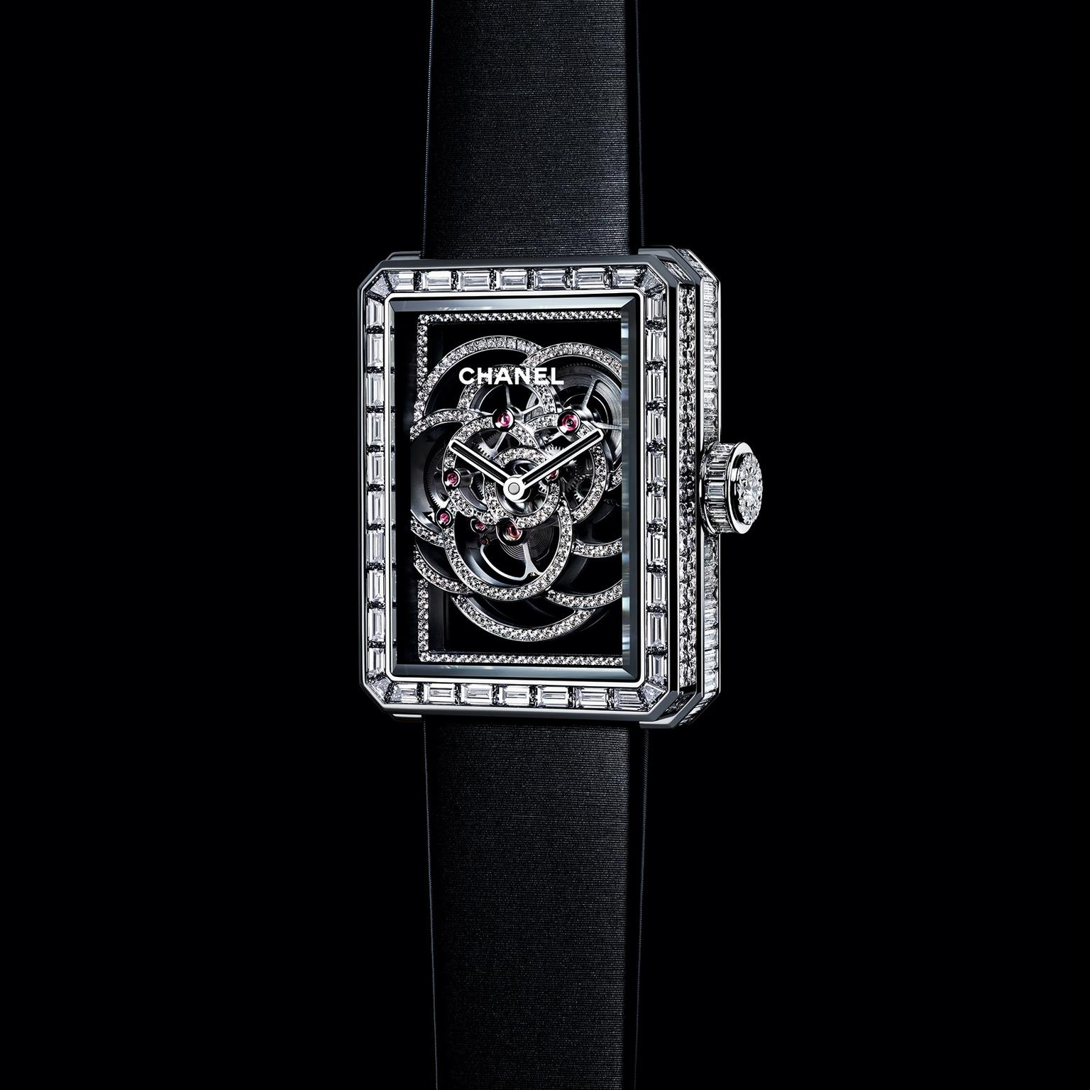 Chanel Premiere Camelia Skeletonised watch