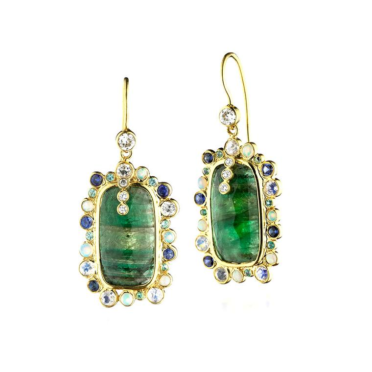 Malak Atut Zaiken Colombian emerald earrings