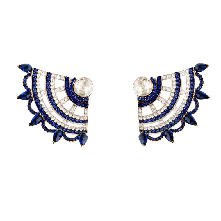 Bleu Carmen sapphire and diamond earrings