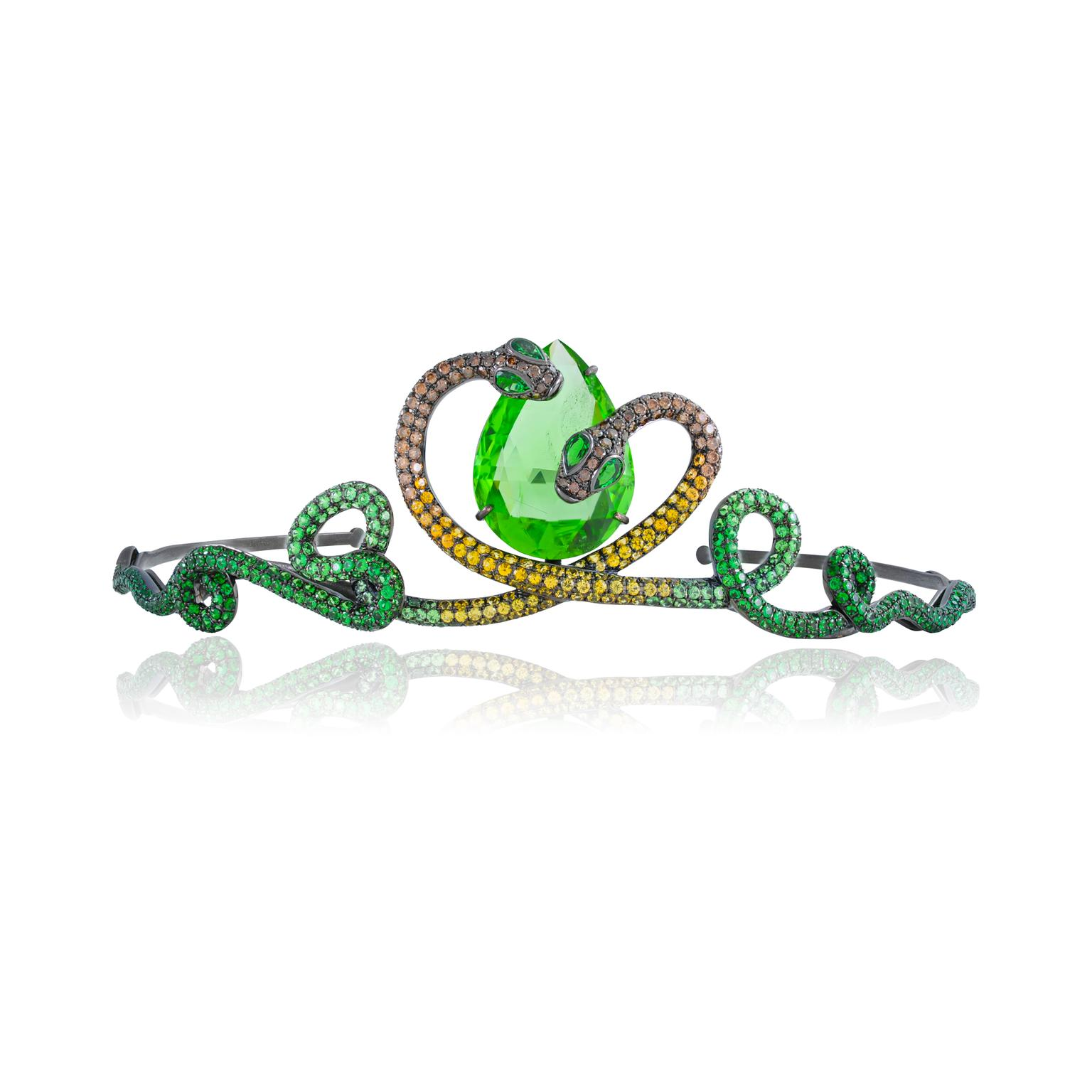 Lydia Courteille Queen of Sheba peridot tiara