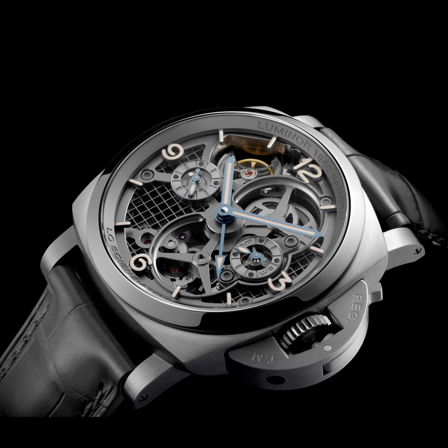 Panerai Lo Scienziato watch - black background