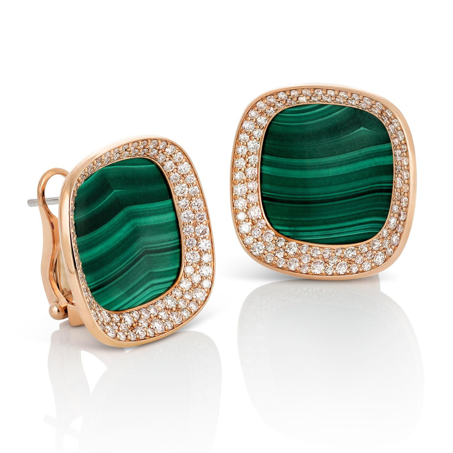 Roberto Coin malachite earrings