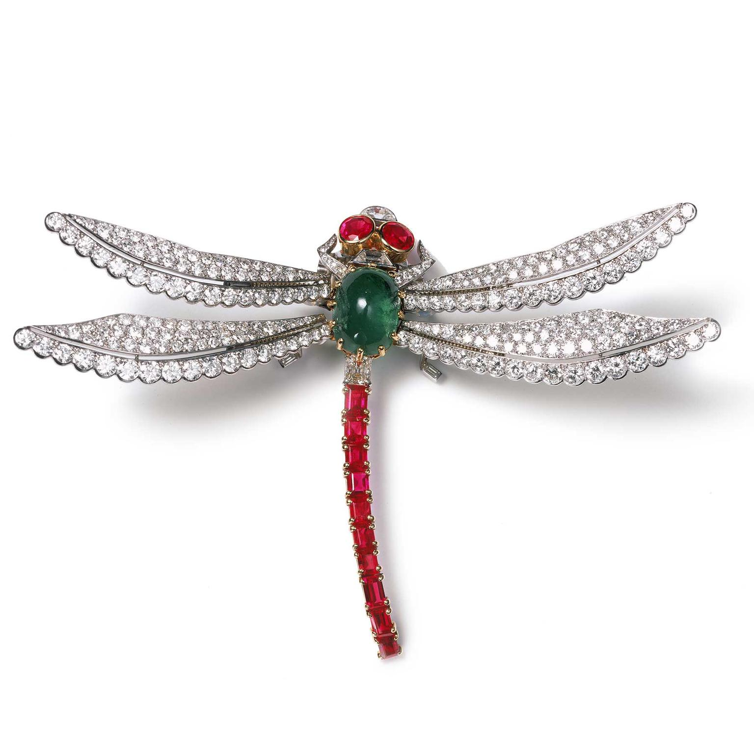 Cartier Collection dragonfly clip brooch dating from 1953