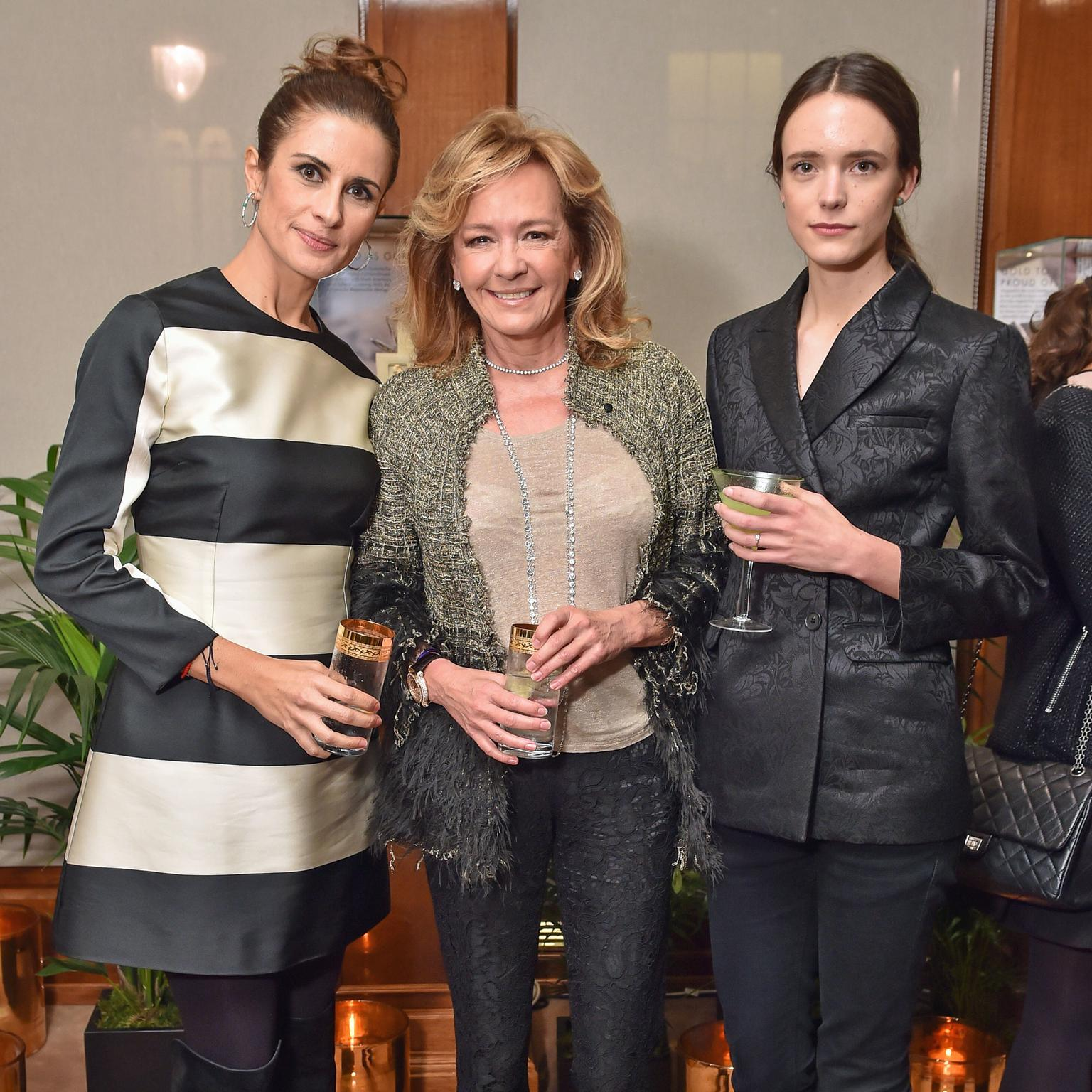 Livia Firth, Caroline Scheufele and actress Stacy Martin