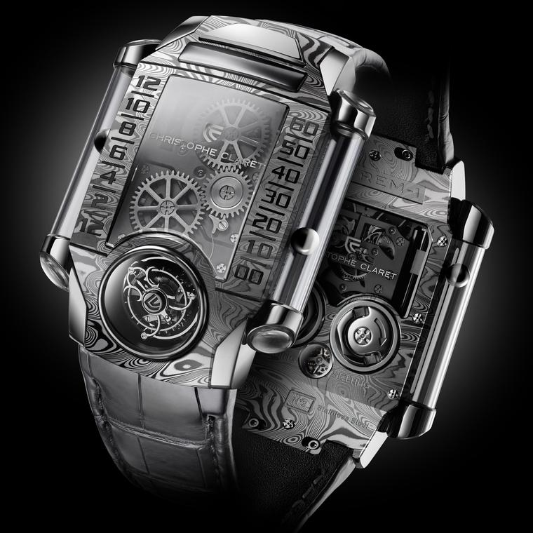 X-TREM-1 watch in Damascus steel