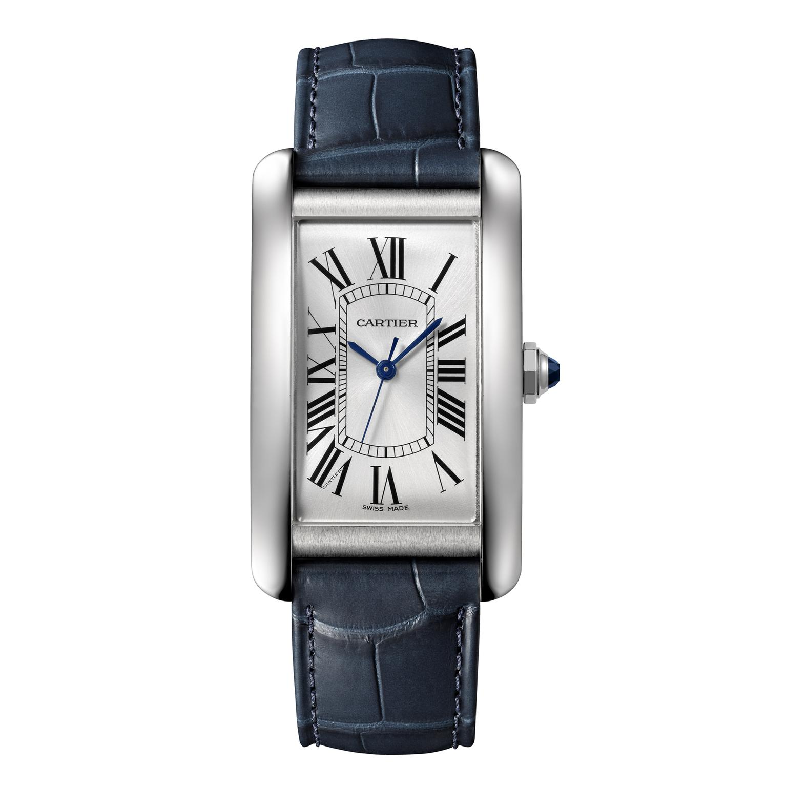 Cartier Tank Américaine large steel mechanical watch