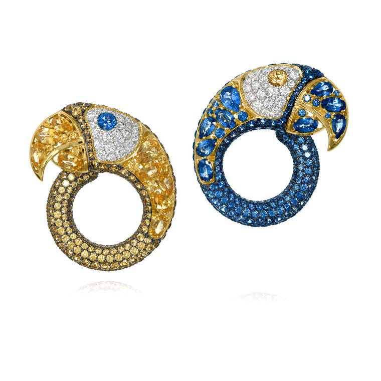 Amsterdam Sauer sapphire and diamond earrings