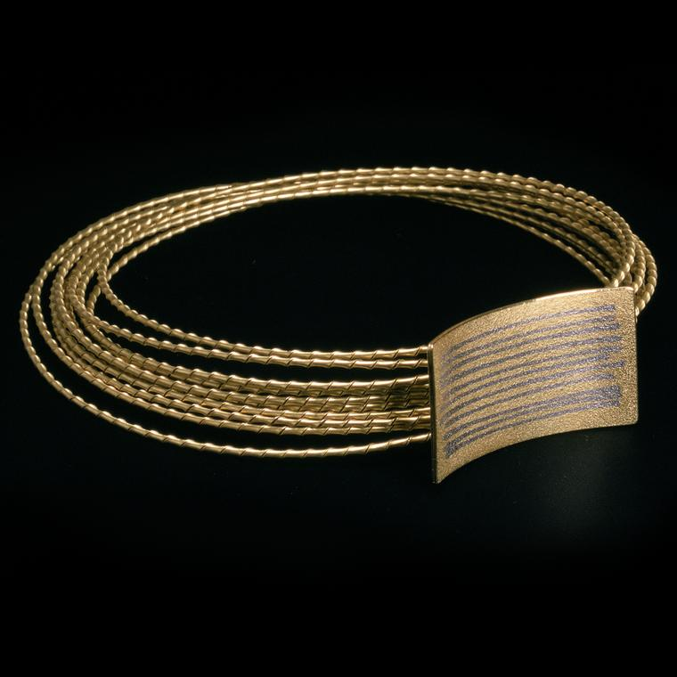 Jacqueline Mina platinum and gold bracelet