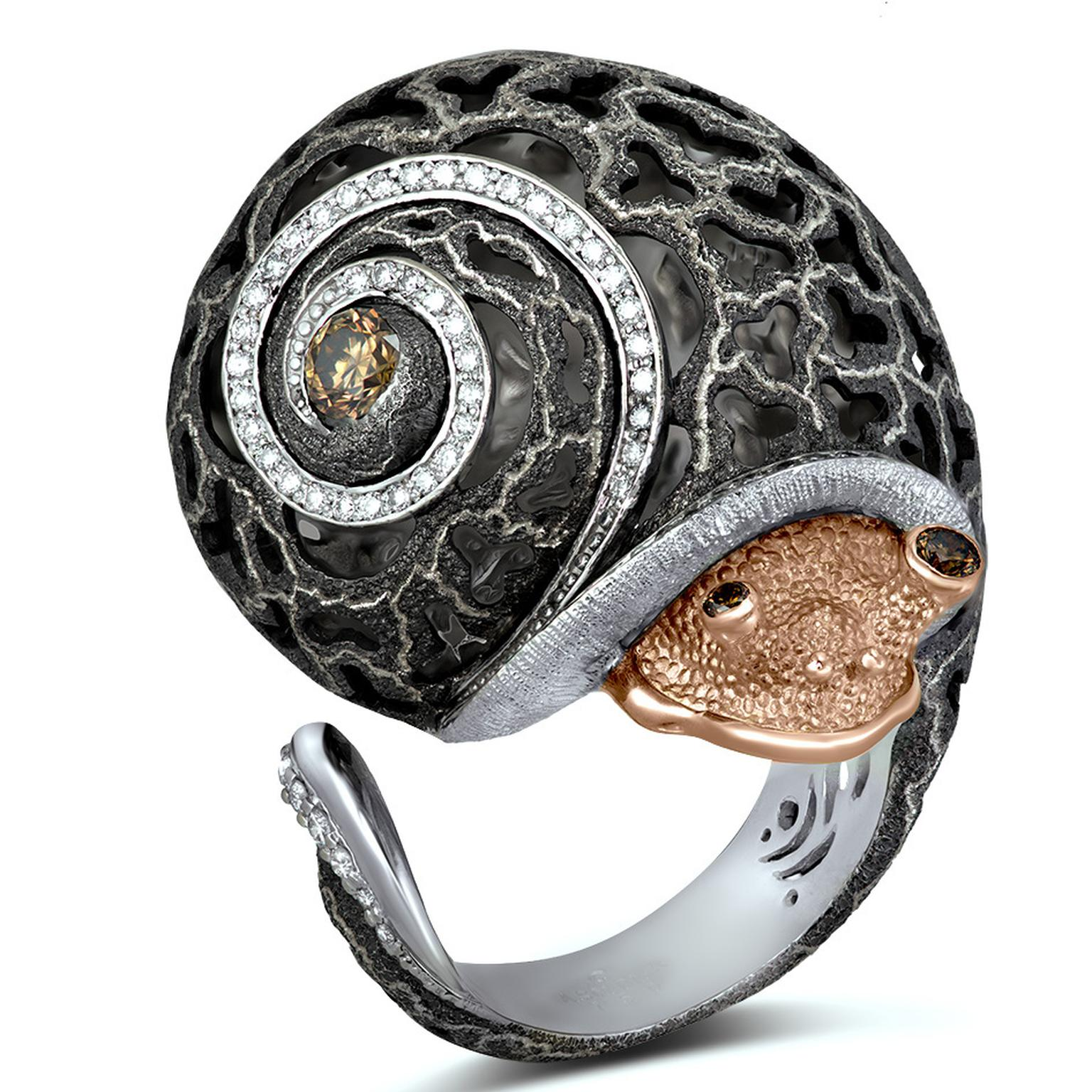 Codi The Snail Ring from Alex Soldier