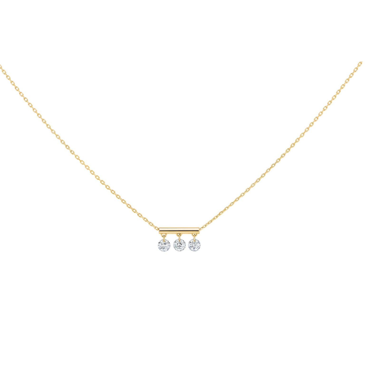 La Brune & La Blonde Pampilles necklace with brilliant-cut diamonds on a gold chain