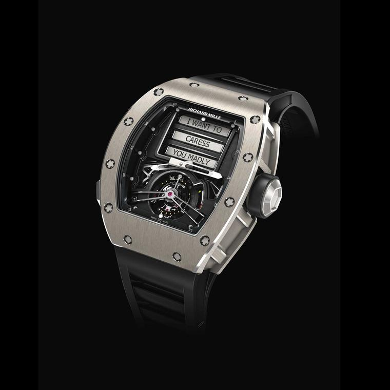 Keep your eye on the dial with seductive messages from Richard Mille's RM 69 Erotic Tourbillon