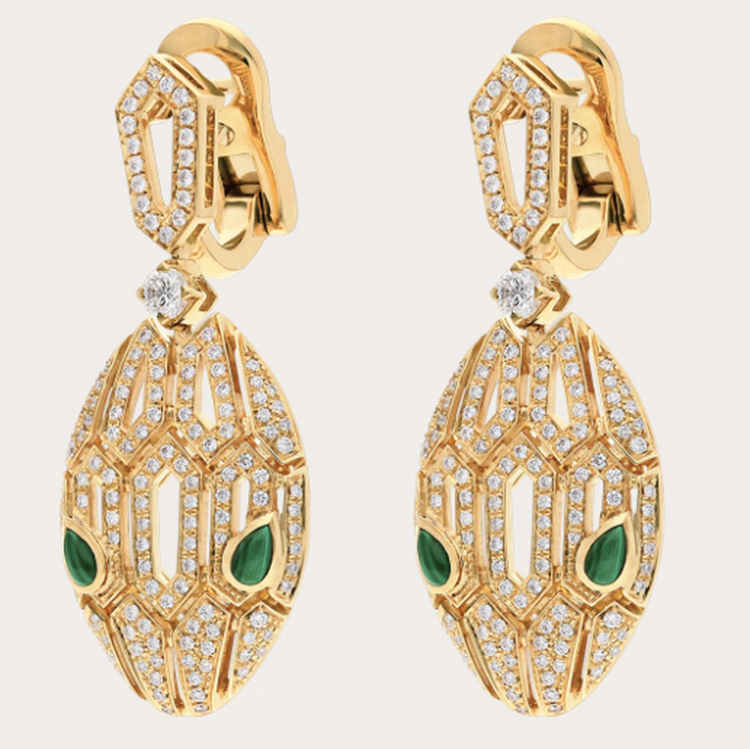 Serpenti earrrings by Bulgari