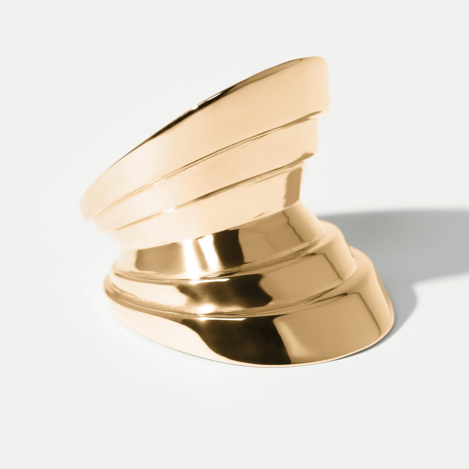 Hannah Martin Monumental Yellow Gold Arc Ring