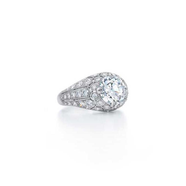 Fred Leighton circular-cut diamond Honeycomb ring