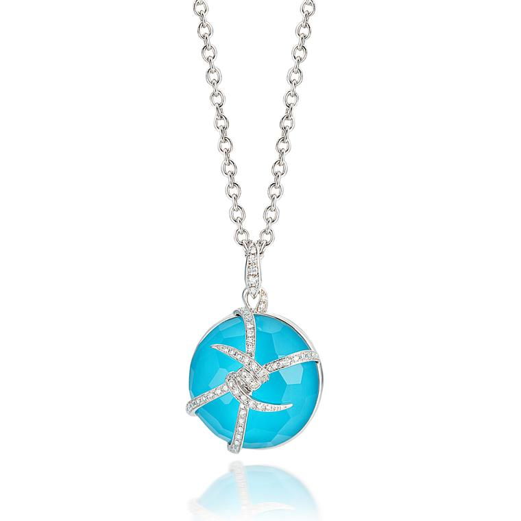 Stephen Webster white gold and turquoise pendant