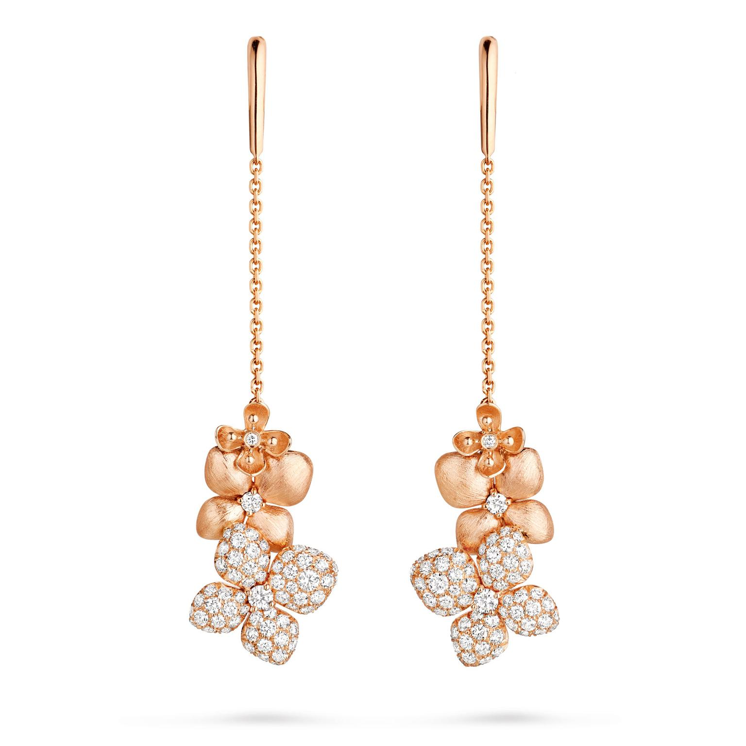 Chaumet Hortensia Astres D'or drop earrings