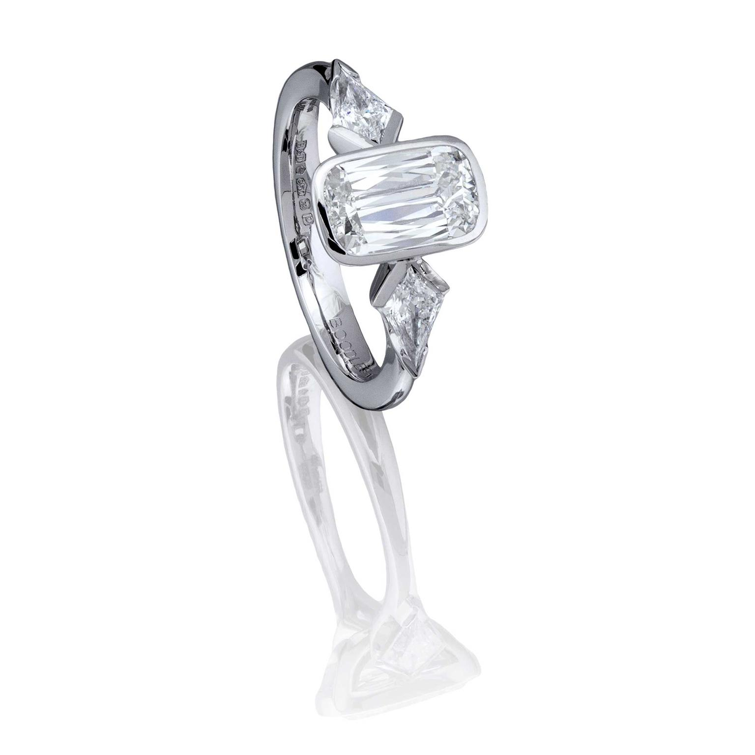 Boodles Trilogy diamond Ashoka ring