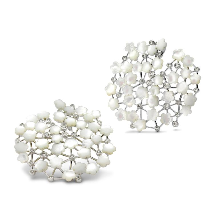 Fei Liu jewellery Asclepias earrings