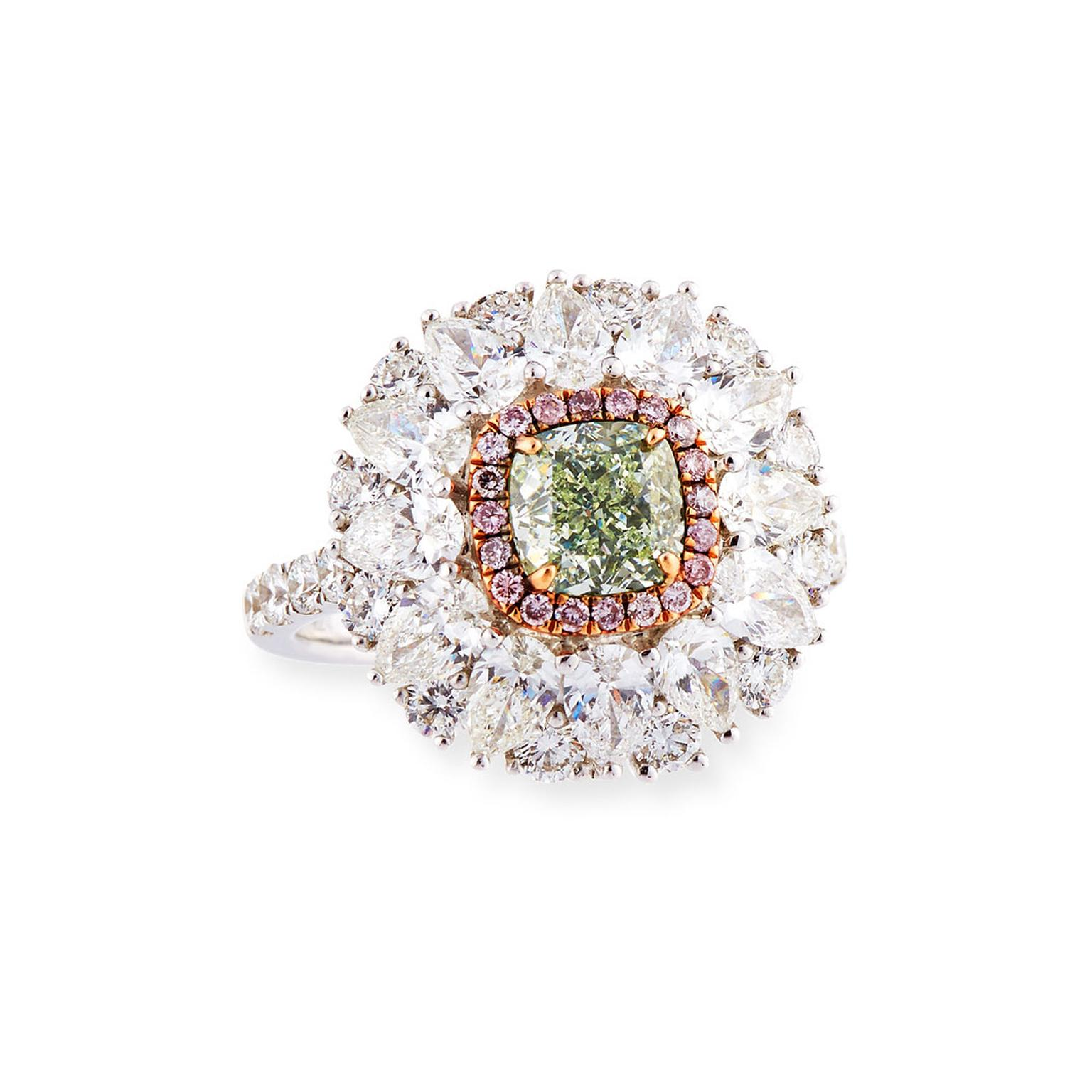 Alexander Laut green diamond ring