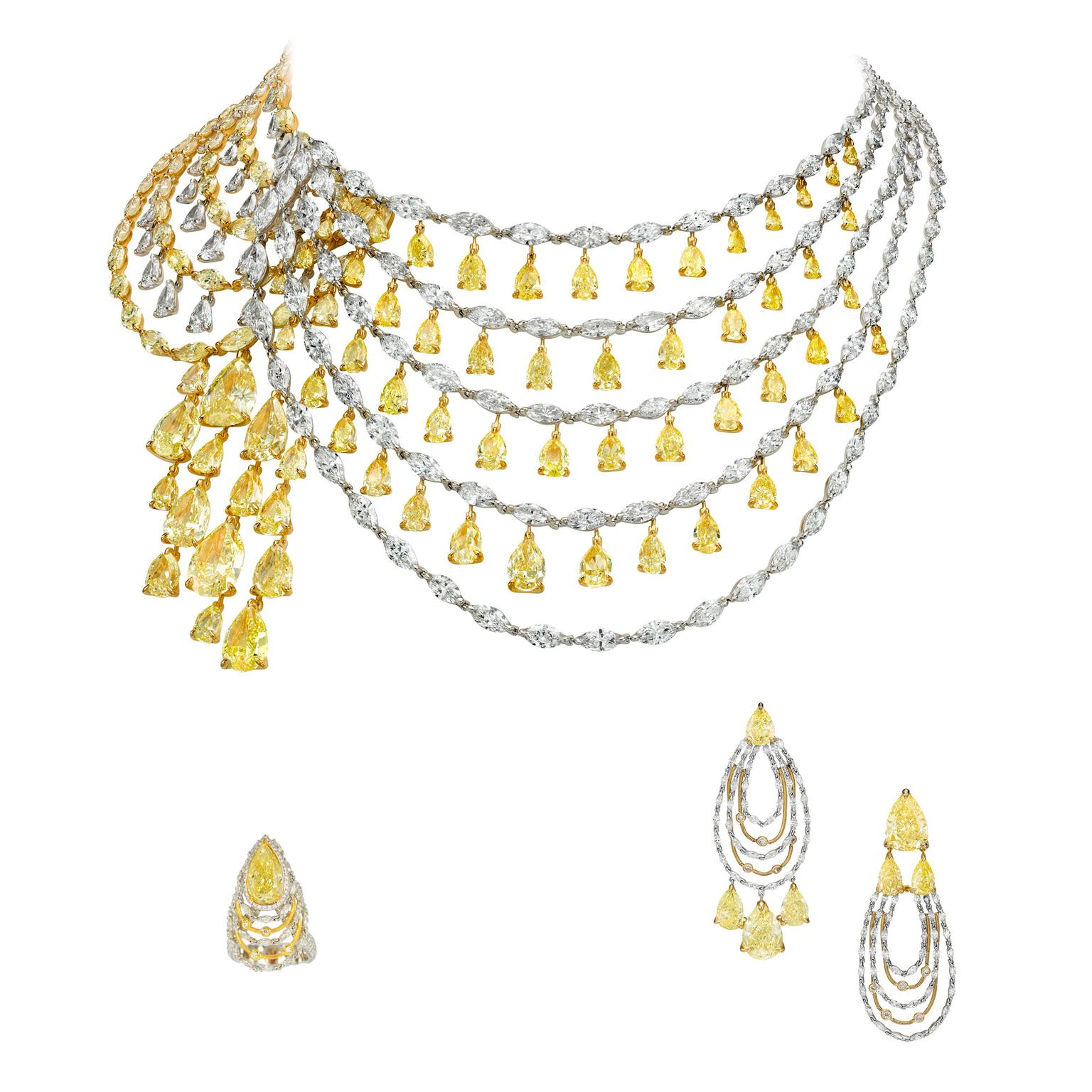 Boghossian Reverence Fancy yellow diamond parure
