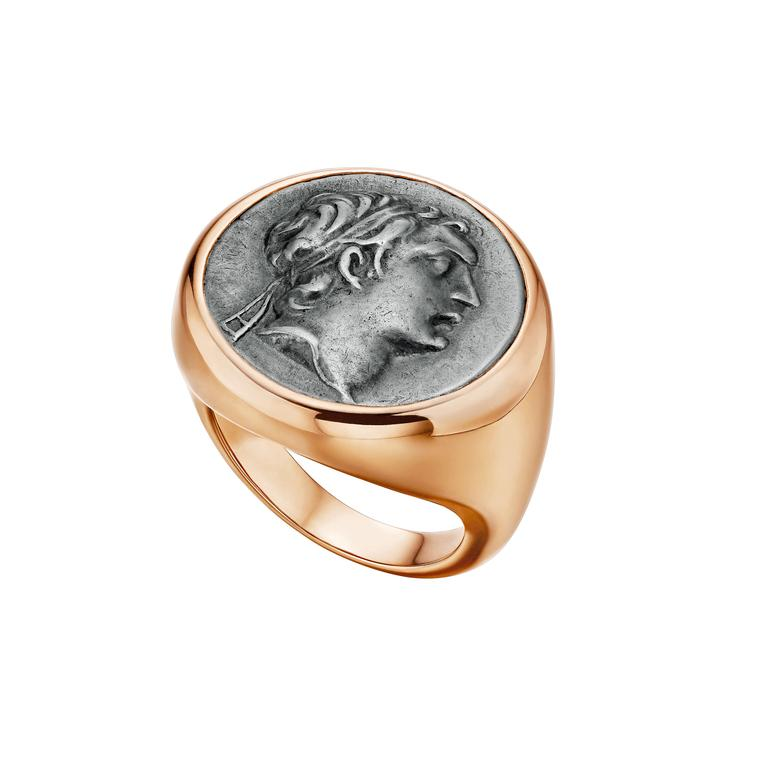 Bulgari Monete signet ring