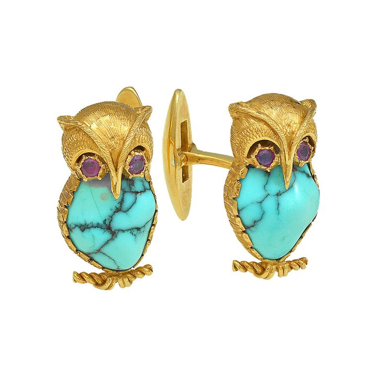 Alice Kwartler Owl cufflinks