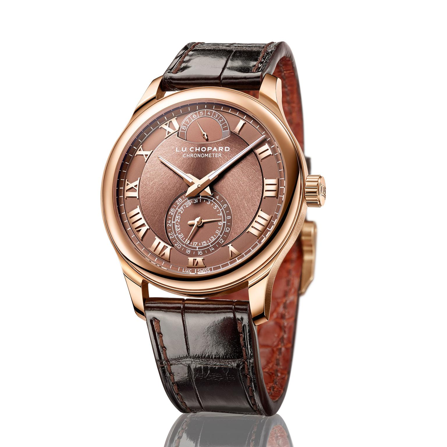 Chopard L.U.C Quattro rose gold watch