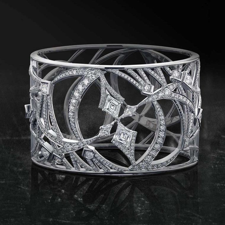 Boodles Pas de Deux platinum and diamond cuff