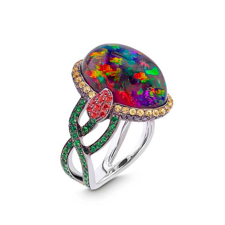 Katherine Jetter Femme Fatale Mexican anhydrous opal ring