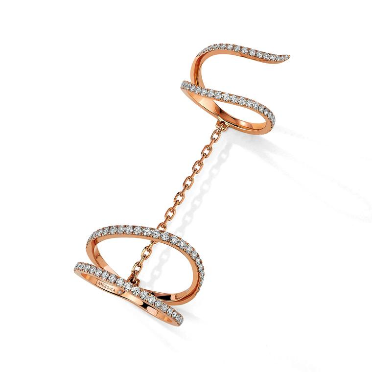 Messika pink gold ring