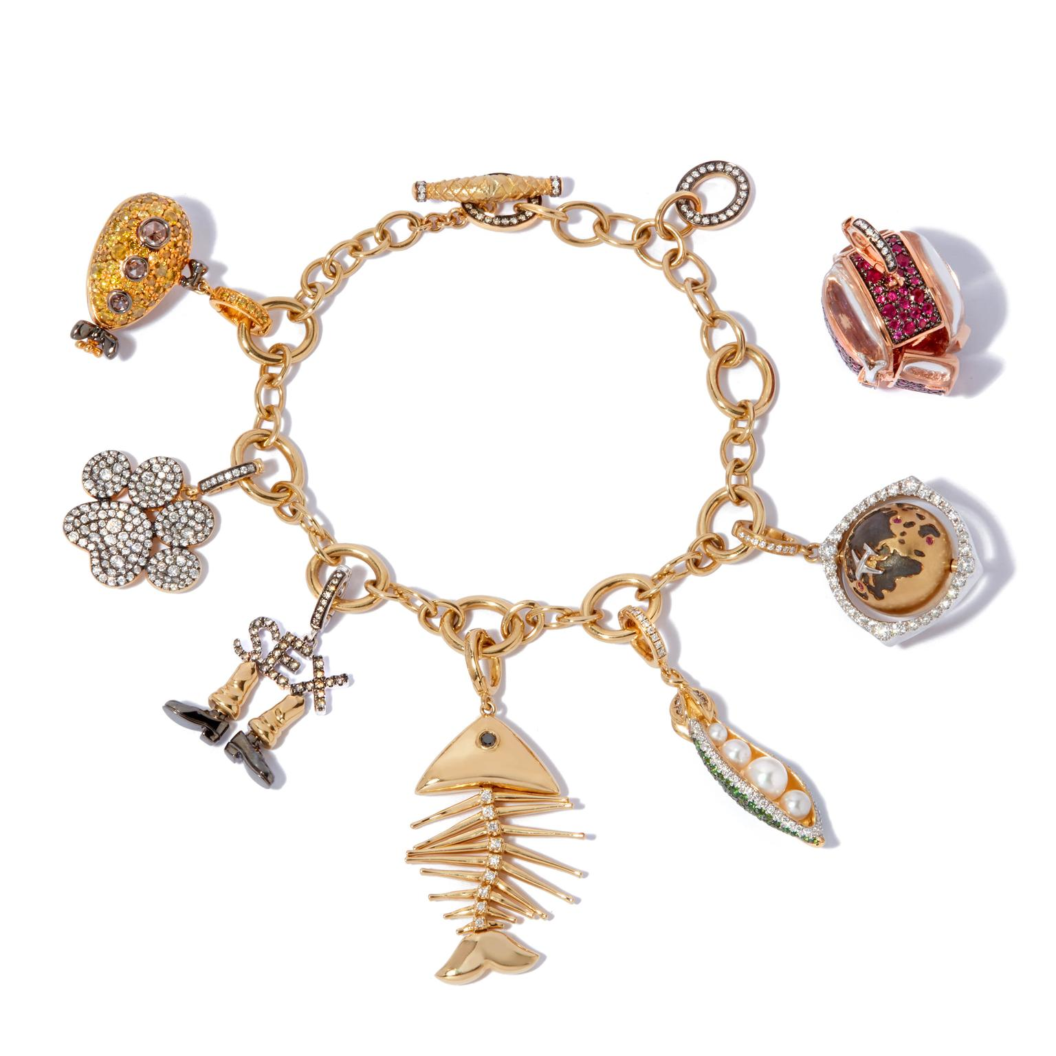 Annoushka My Life in 7 Charms, bracelet with charms