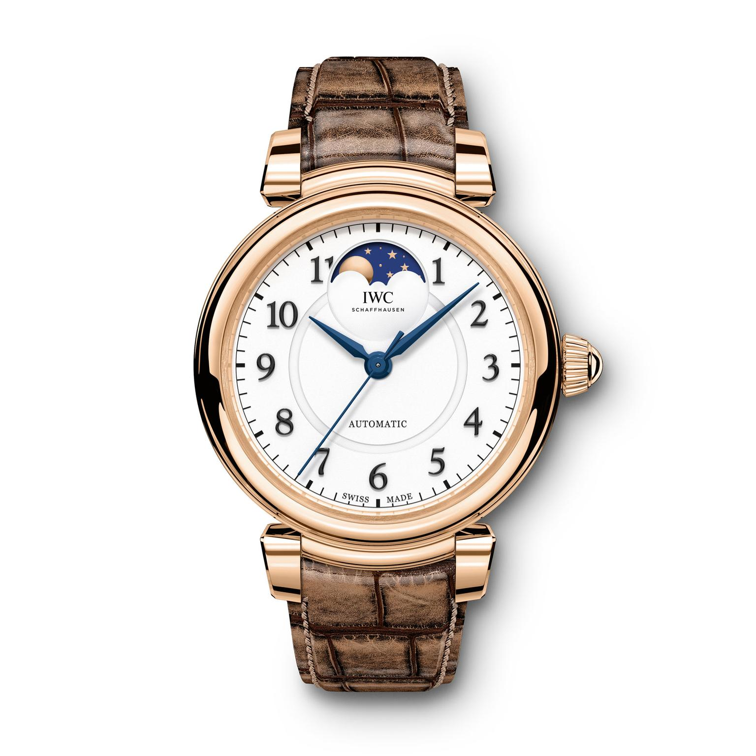 IWC Da Vinci Moon phase red gold watch for women