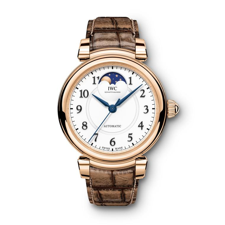 Da Vinci Automatic Moon Phase watch in red gold
