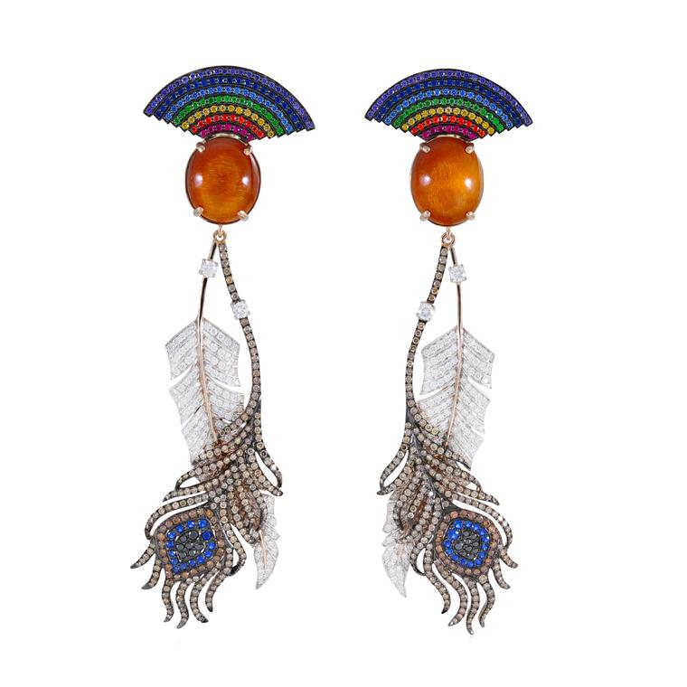 Lydia Courteille Rainbow Warrior earrings