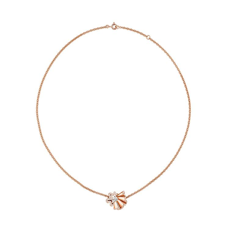 Archi Dior Cocotte collier rose gold and diamond necklace