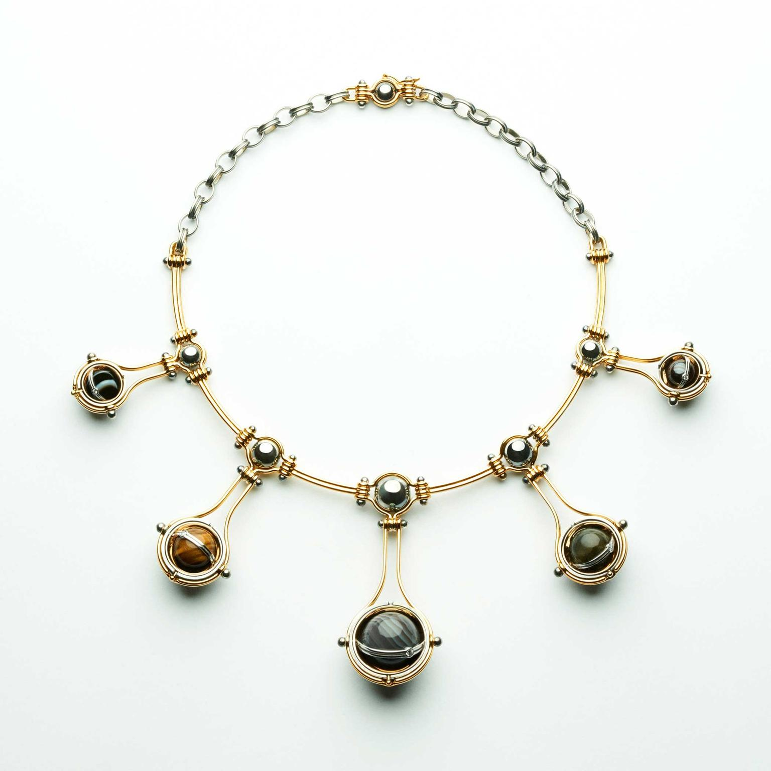 with tube gold chain pendant top link gemstone black white necklace wearing colored diamonds wallpaper gift type woman