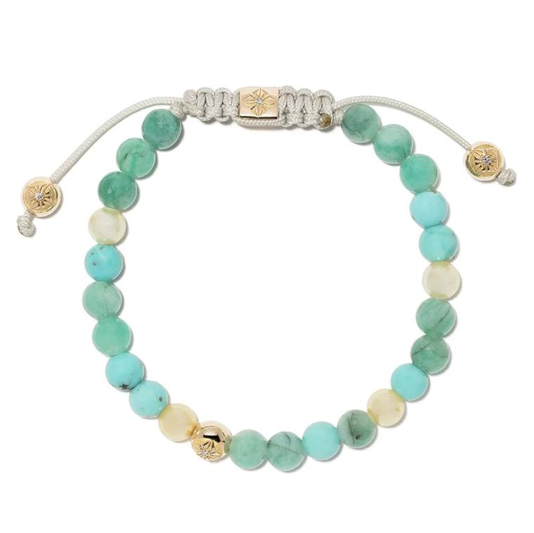 Turquoise and pearl bracelet by Shamballa