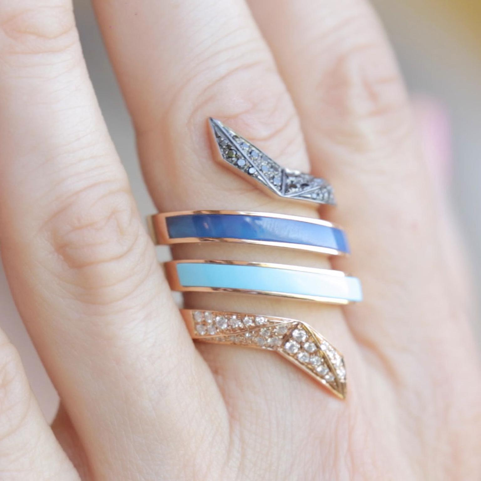 Octium Twist Collection ring close up