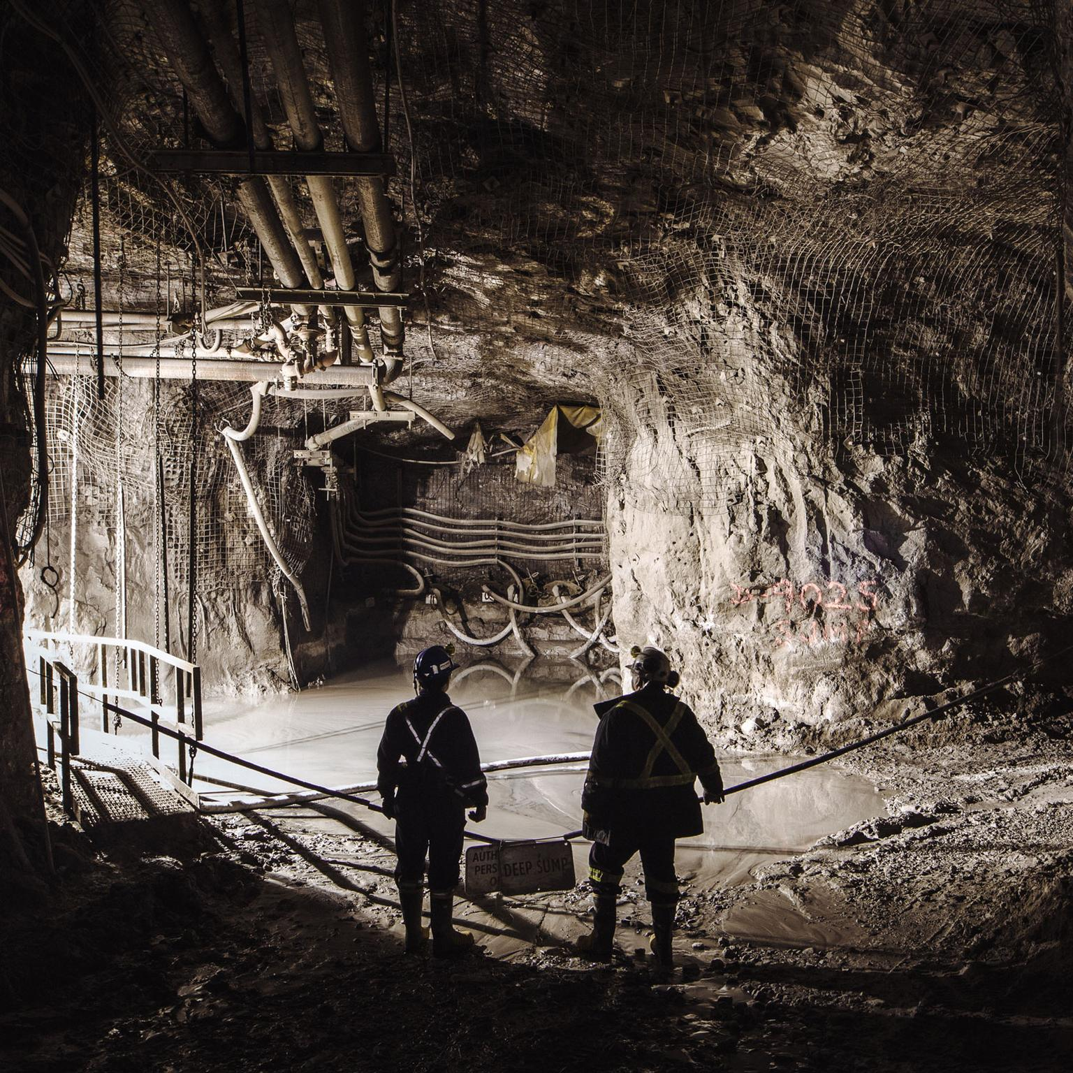 Underground at the Diavik diamond mine