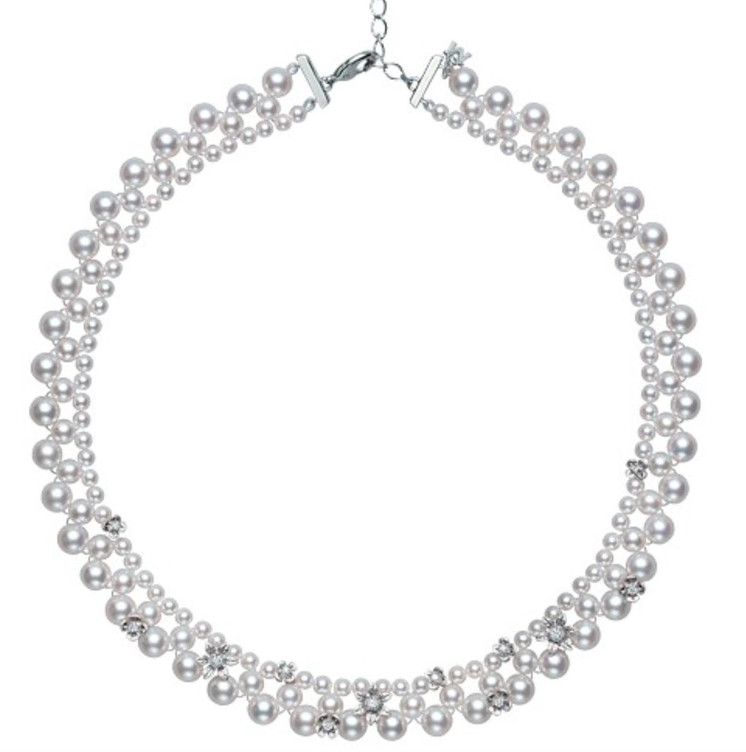Mikimoto Flower Lace necklace