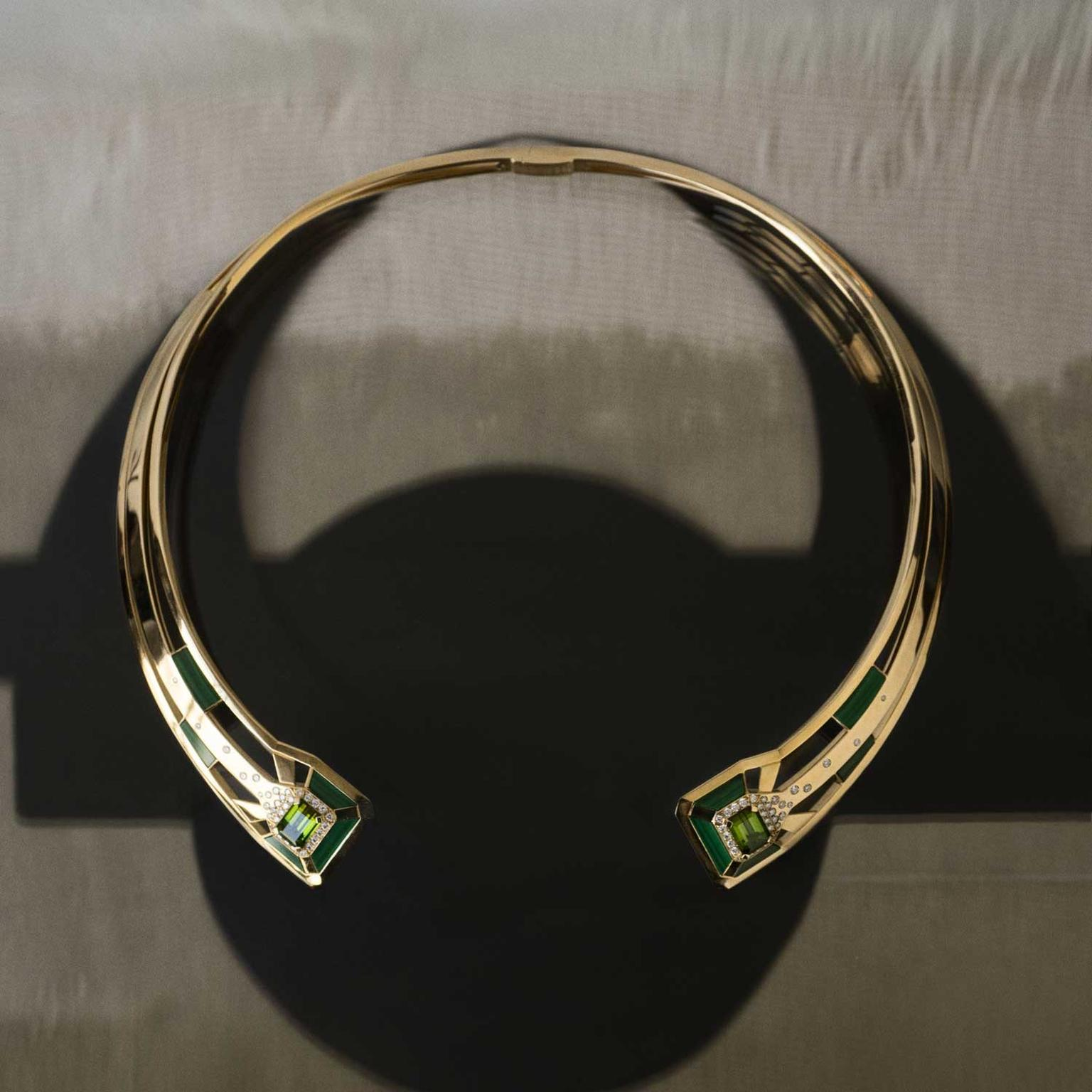 Chanel Gallery My Green tourmaline necklace