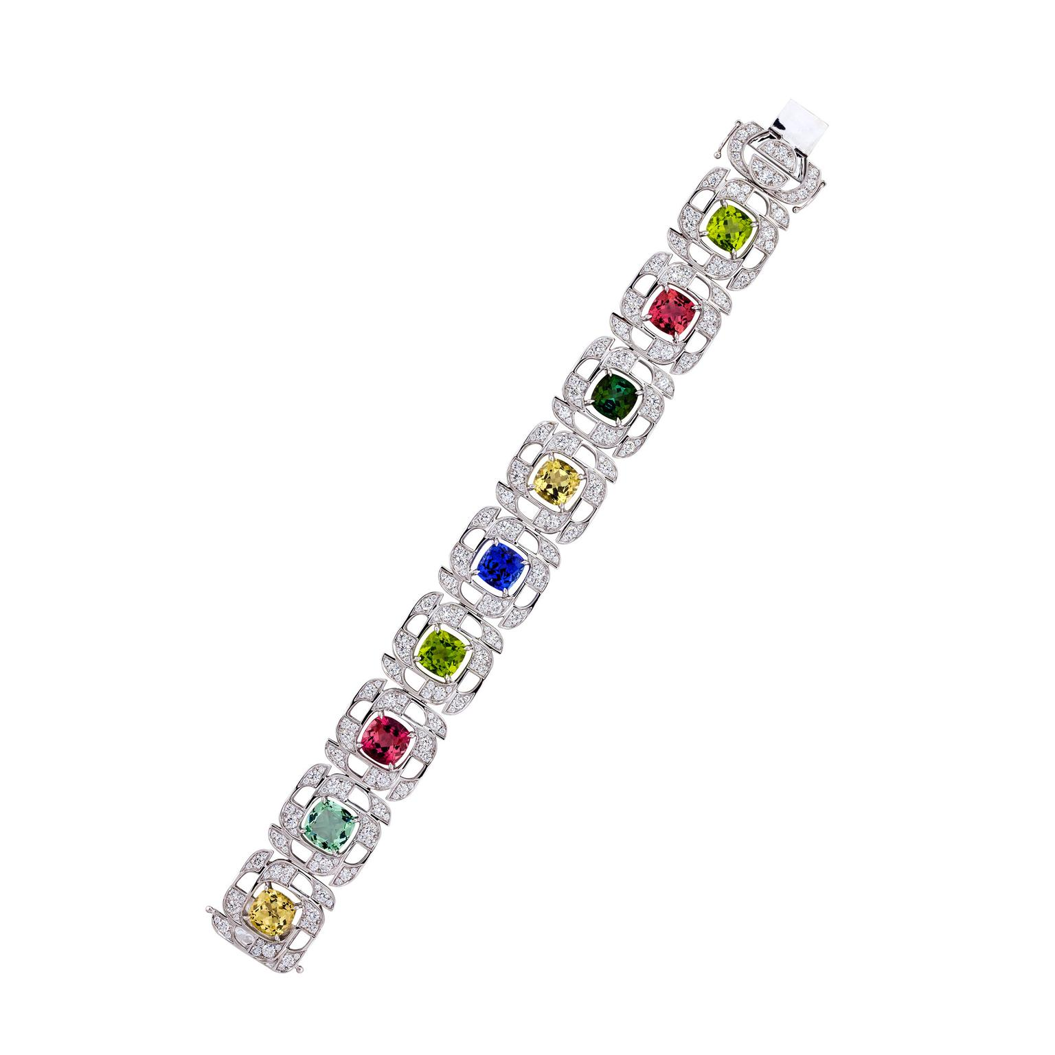 Boodles multicolour gemstone bracelet